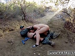 dominant cop and female police mexican border patrol agent has his own ways to fend off