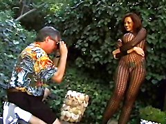 44GG Donita Dunes fishnet blowjob