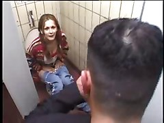 Teen Fucks for some Money in Public Toilet by snahbrandy