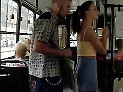 AMAZING sex at a PUBLIC city bus