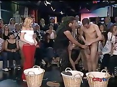 NAKED STRIP GAME ON LIVE TV
