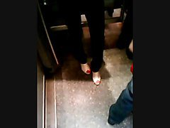 Feet in a metro train V