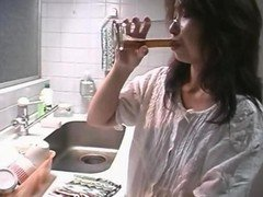 Japanese Mother Banged In The Kitchen