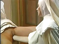 German porn - two nuns have sex with a priest