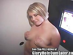 Thick, Sexy, Cutie Eats Tube Steaks At The Gloryhole