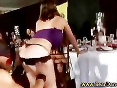 Horny party cfnm babes get hot