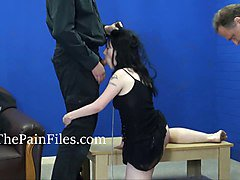 Rough spanking and blowjob domination of sexually punished