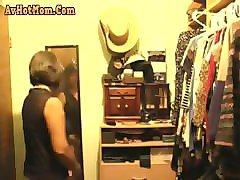 spying on asian mother-in-law changing