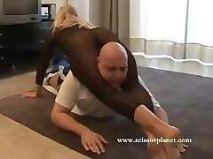 blonde mixed wrestling