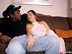 white cuckold humiliated by wife and black bull