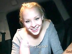 eurobabe lola taylor nailed in the car by stranger dude