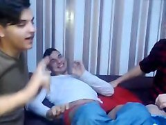 3 romanian gorgeous bisexual guys have sex and fun on cam
