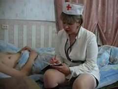 Nurse Mature An Young Boy
