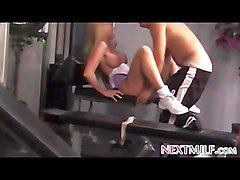 horny milf fucked at the gym