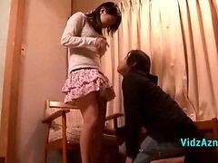 Shy Girl Getting Her Pussy Licked Fingered While Sitting On The Chair In The Roo