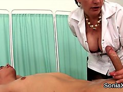 adulterous english mature lady sonia flashes her heavy naturals