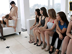 Lesbian Orgy  in Head Mistress In Charge - TeamSkeet