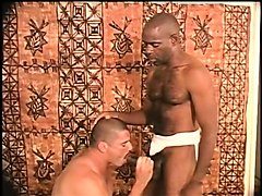 two interracial gay lovers provide to each other magnificent blowjobs