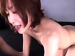 dazzling japanese wife milks her lover's long dick with her