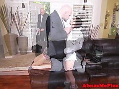 Tiny amateur lifted and pounded by maledom