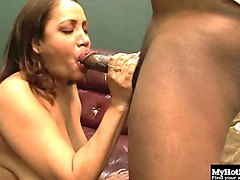 a bbw woman, kira,  gets it on with a hung black dude