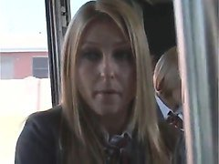 blonde groped on-bus by asian
