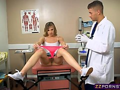 doctor takes petite teens anal virginity at the gyno table