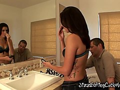 Babe Allie Tells Her Cuckold Husband