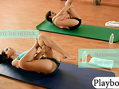very cute girls do hot naked yoga session