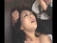 attractive japanese wife in black stockings enjoys a rough