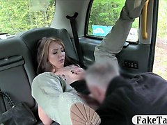 sexy babe in boots fucked by the driver in public place